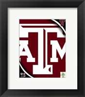 Framed Texas A&M University Aggies Team Logo