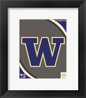 Framed University of Washington Huskies Team Logo