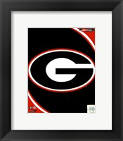 Framed University of Georgia Bulldogs Team Logo