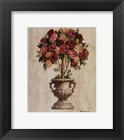 Framed Pink and Red Rose Topiary