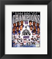 Framed New York Giants Super Bowl XLVI Champions Composite