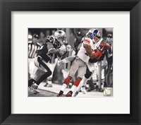 Framed Mario Manningham Catch Spotlight Super Bowl XLVI
