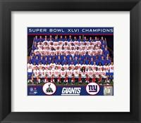 Framed New York Giants Team Photo Super Bowl XLVI