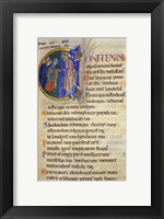 Framed Initial C from 105th Psalm In Albani Psalter