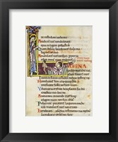 Framed Initial L from Psalm 118, verse 109th In Albani Psalter