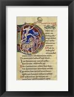 Framed Psalm 136, Initial D In Albani Psalter