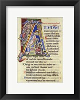 Framed Psalm 24, Initial A. In Albani Psalter