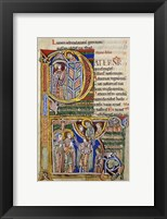 Framed Our Father, initial P In Albani Psalter