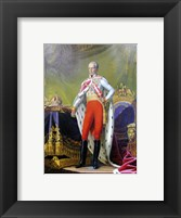 Framed Emperor Franz, a Portrait of King of Hungary