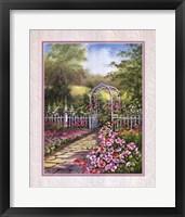 Framed White Trellis/Roses