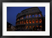Colosseum at Night Framed Print