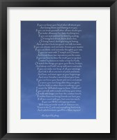 If Framed Print