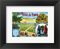 Red table wine from Rishon de Zion Palestine Framed Print