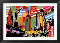 Framed New York Taxi I