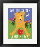 Framed Go Outside and Play