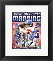 Framed Eli Manning 2012 Portrait Plus