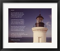 Framed Invictus Poem (lighthouse)