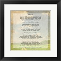 Framed Don't Quit Poem (field)