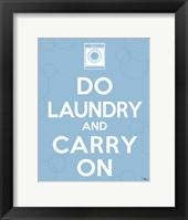 Laundry On I Framed Print
