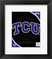 Framed Texas Christian University Horned Frogs Team Logo