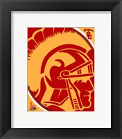 Framed University of Southern California Trojans Team Logo