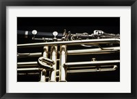 Framed Close - up of a Clarinet and a Trumpet