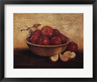 Framed Apples in Wood Bowl