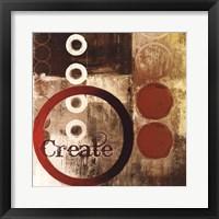 Framed Create (Red)