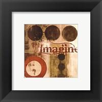 Framed Imagine (Red)