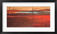 Framed Red Horizon I