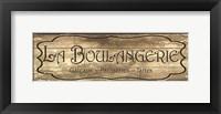 Framed La Boulangerie