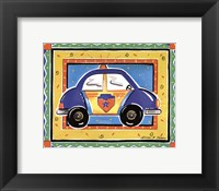 Framed Police Car