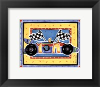 Framed Race Car
