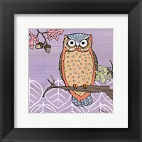 Pastel Owls II - mini Framed Print