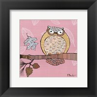 Pastels Owls III - mini Framed Print