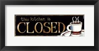Framed Kitchen Closed - mini