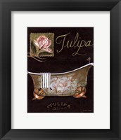 Tulipa Bath - mini Framed Print