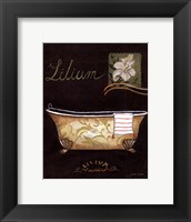 Lilium Bath - mini Framed Print
