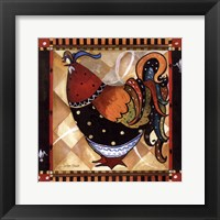 Framed Tuscan Rooster Sq II