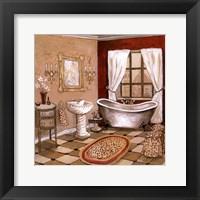 Framed Leopard Florentine Bath