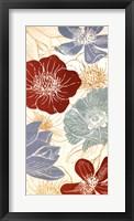 Framed Vintage Flowers II