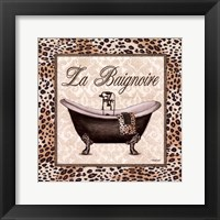 Leopard Bathtub Framed Print