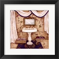 Framed Purple Passion Sink I