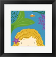 Peek-A-Boo Mermaid Framed Print