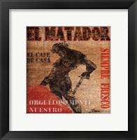 El Matador Framed Print