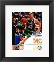 Framed Larry Bird Action