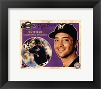 Framed Ryan Braun 2012 Studio Plus