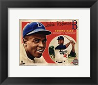 Framed Jackie Robinson 2012 Studio Plus