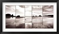 Framed Tides on Bandon Beach