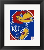 Framed University of Kansas Jayhawks Team Logo
